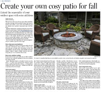 Cosy patio for fall